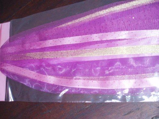 pita tambourine warna ungu (variasi pita pink)