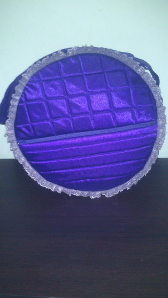 ungu tua (terong) + renda